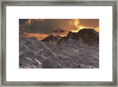 An Alien Reptoid Awaits To Be Picked Framed Print by Mark Stevenson