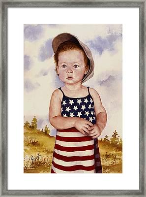 An All American Girl Named Ireland Framed Print by Sam Sidders