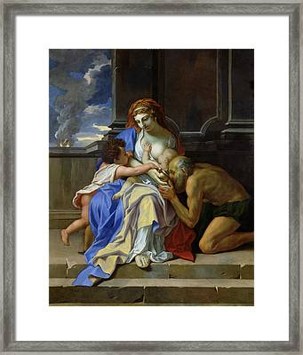 An Allegory Of Charity, C.1642-48 Oil On Canvas Framed Print