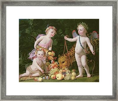 An Allegory Of Peace And Plenty Framed Print by Gerrit van Honthorst