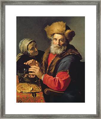 An Allegory Of Winter, 1631 Oil On Canvas Framed Print