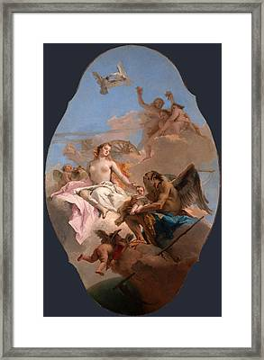 An Allegory With Venus And Time Framed Print by Giovanni Battista Tiepolo