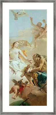 An Allegory With Venus And Time Framed Print