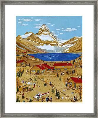 An Alpine Autumn Framed Print by Virginia Ann Hemingson