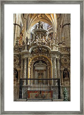 Framed Print featuring the photograph An Alter In The Salamanca Cathedral by Farol Tomson