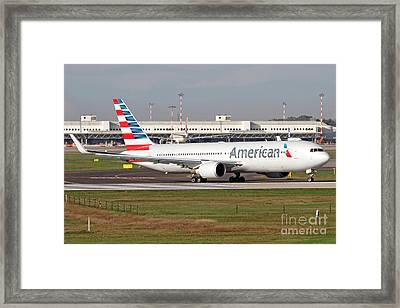An American Airlines Boeing 767 Framed Print by Luca Nicolotti