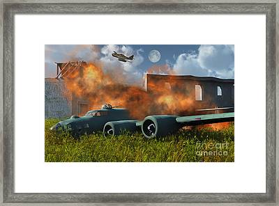 An American B-17 Flying Fortress Shot Framed Print