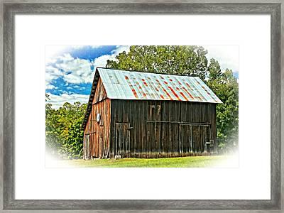 An American Barn 2 Oil Framed Print by Steve Harrington