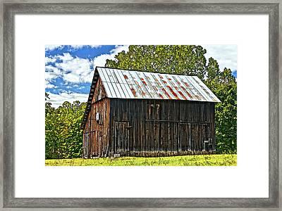 An American Barn 2 Painted Framed Print by Steve Harrington