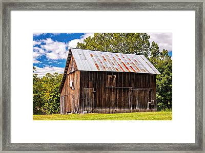 An American Barn 2 Framed Print