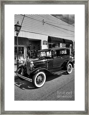 An American Classic Bw Framed Print