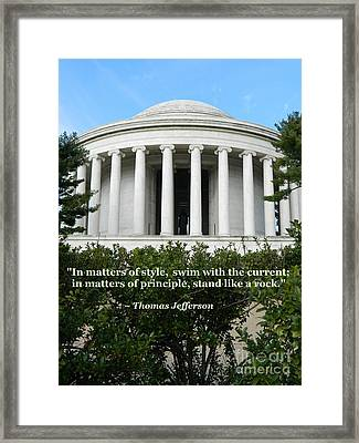 An American Founding Father Framed Print by Emmy Marie Vickers