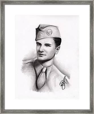 An American Hero Framed Print by Rosalinda Markle