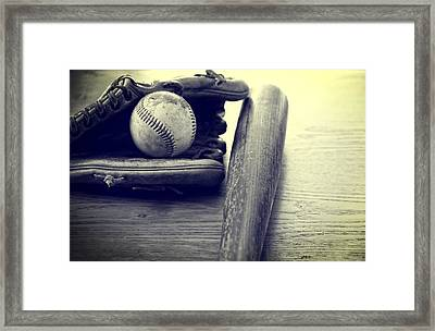 An American Pastime Framed Print