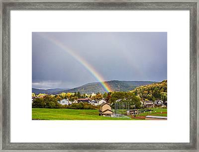 An American Rainbow Framed Print