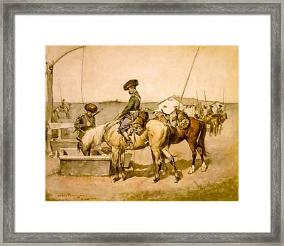 An Amoor Cossack Framed Print