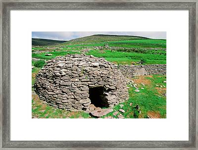 An Ancient Beehive Dwelling Framed Print