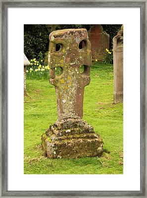 An Ancient Stone Cross Framed Print by Ashley Cooper