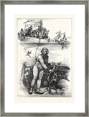 An Ancient Wreck Framed Print by American School