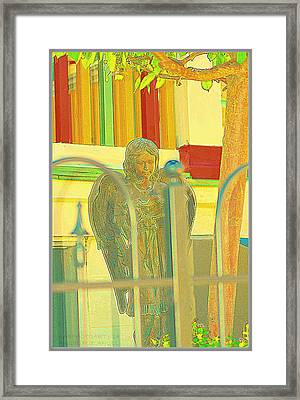 An Angel For An Angel Framed Print by Kathy Barney