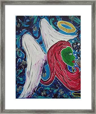 An Angel's Kiss Framed Print