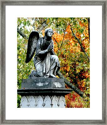 Framed Print featuring the photograph An Angels' Prayer by Lesa Fine