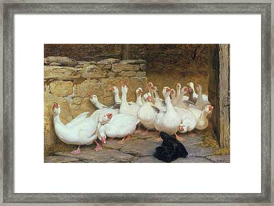 An Anxious Moment, 1878 Framed Print by Briton Riviere