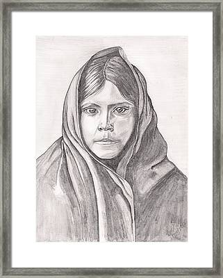 An Apache Daughter Framed Print