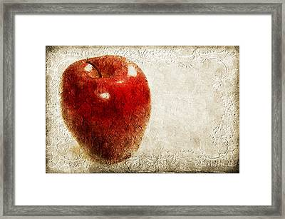 An Apple A Day Framed Print by Andee Design