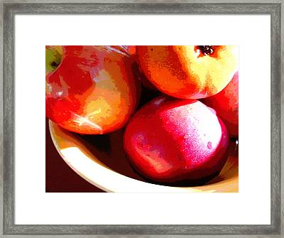 An Apple A Day Framed Print by Ginny Schmidt