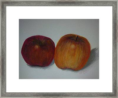 An Apple A Day Framed Print by Kat Poon