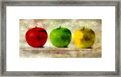 An Apple A Day With Will Ferrell Framed Print