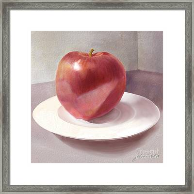 An Apple For Sue Framed Print by Joan A Hamilton