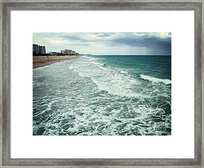 An Approaching Storm Framed Print by Sally Simon