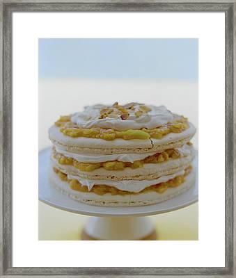 An Apricot Almond Layer Cake Framed Print