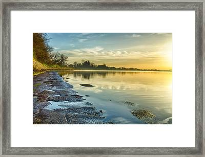 An April Morning On The Estuary  Framed Print by Martina Fagan