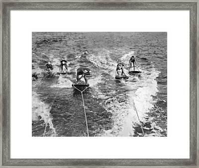 An Aquaplane Teacher Framed Print