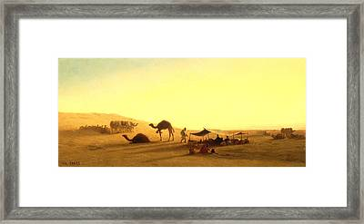 An Arab Encampment  Framed Print