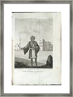 An Arab Of Yemen Framed Print by British Library