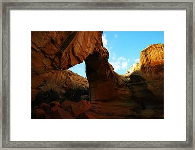 An Arch At Capital Reef Framed Print by Jeff Swan