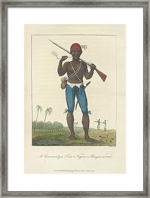 An Armed Negro Framed Print by British Library