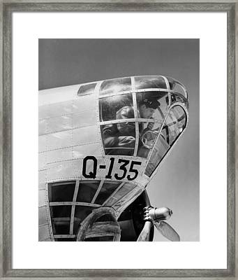 An Army Air Force Bombardier Framed Print