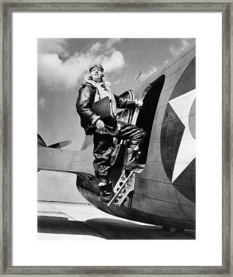 An Army Air Force Navigator Framed Print