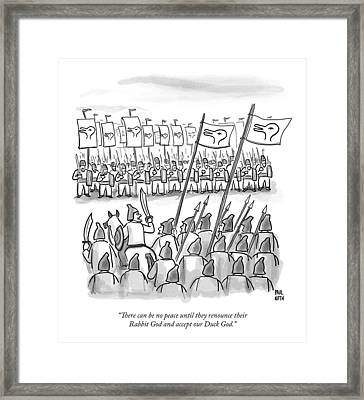 An Army Lines Up For Battle Framed Print by Paul Noth