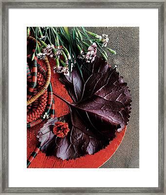 An Arrangement Of Flowers Framed Print by Martyn Thompson