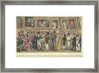 An Art Exhibition Framed Print