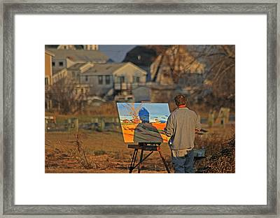 An Artist At Work Framed Print