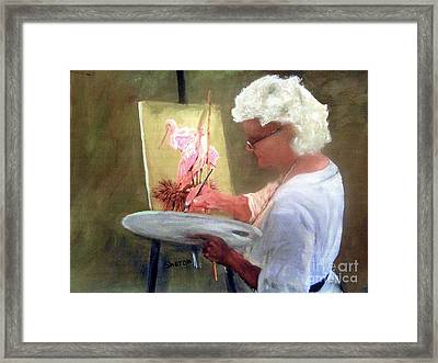 An Artist At Work Framed Print by Sharon Burger