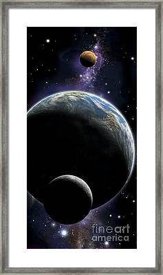 An Artists Depiction Of An Earth Type Framed Print