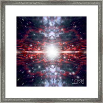 An Artists Depiction Of The Big Bang Framed Print